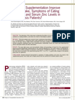Zinc Supplementation Improve Dietary Intake