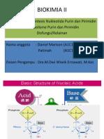 Mekanisme Biosintesis Nukleotida Purin dan Pirimidin Metabolisme Purin dan Pirimidin Disfungsi/Kelainan