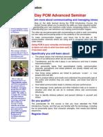 PCM - Advanced Course
