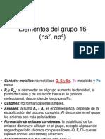 Elementos Del Grupo 16 2013