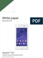 Sony Xperia E3 White Paper (September 2014)