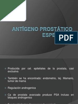 antígeno prostático total y libre diferenciato