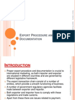 Export Procedure and Documentation