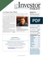 Value Investor Insight - May 31, 2013