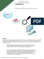 Debugging FortiGate Configurations