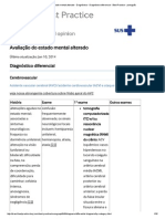 Avaliação Do Estado Mental Alterado - Diagnóstico - Diagnóstico Diferencial - Best Practice - Português