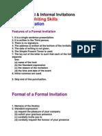 Formal & Informal Invitations