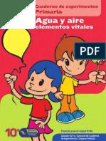 Cuaderno de Experimentos Agua y Aire Elementos Vitales Primaria