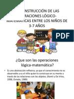 La construcción de las operaciones lógico-matemáticas entre los niños de 3-7 años