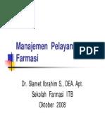 Manajemen Pelayanan Farmasi -1