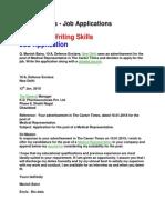 Letters - Job Applications