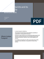 Carbon Footprints and Its Effects on the Environment