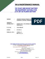 O&M - MANUAL - 220V - 187 AH PLANTE BATTERY.pdf