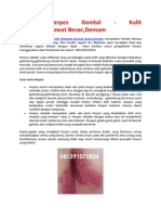 Gejala Herpes Genital - Kulit Melepuh,Jerawat Besar,Demam