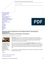 Depreciation Expense Schedules Explained in Accounting Examples