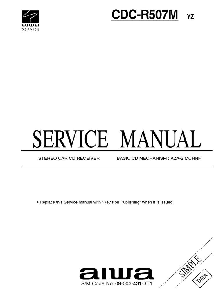 Service Manual: CDC-R507M