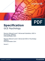 Edexcel AS Pyschology Specification