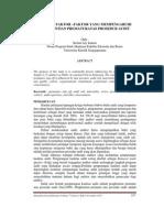 Analisis faktor-faktor yang mempengaruhi penghentian prematuratas prosedur audit