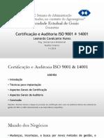Certificação e auditoria ISO 9001 & ISO 14001