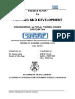 51983935 NTPC Project Report