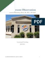 classroom observations 1  2