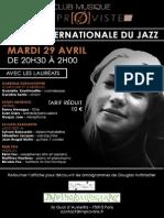 Soirée Intoirée internationale du jazzernationale Du Jazz-final