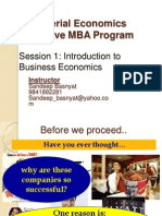 EMBA Sem I Managerial Economics Session1-Introduction to Business Economics