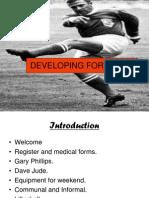 Developing Forwards