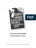 7 Habits of Highly Effective People -- Summary