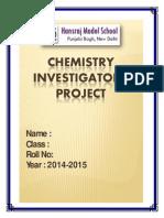 Chemistry Project-2 Keshav