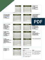 Preliminary Calendar 2014-2015