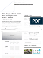Web Design Tutorial – Learn How to Design an Agency Website