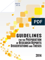 Guidelines for Thesis Preparation
