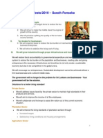Manifesto | 2010 – Sarath Fonseka