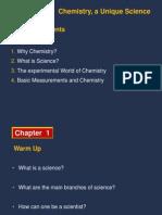 Chemistry a Unique Science