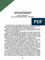 Pellettieri (1991) - Modelo Periodización Teatro Argentino