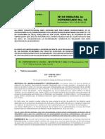 No. 45 Comunicado 12 y 13 de Noviembre de 2014 Fe de Erratas