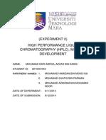 HIGH PERFORMANCE LIQUID CHROMATOGRAPHY (HPLC), METHOD DEVELOPMENT