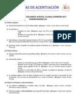 REGLAS DE ACENTUACIÓN GENERAL