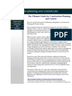The Ultimate Guide for Construction Planning and Control