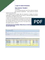 Note on Calculation Logic for Vendor Evaluation