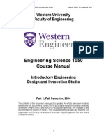 ES 1050 Course Manual Fall 2014