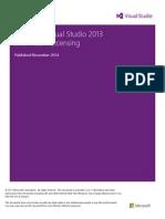 Visual Studio 2013 and MSDN Licensing Whitepaper - November-2014