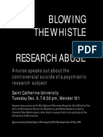 Flyer Blowing the Whistle on Research Abuse