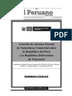 Acuerdo Parcial Comercial Perú - Venezuela
