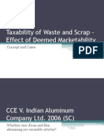 Presentation on Dutiability of Waste and Scrap