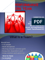 High Performance Work Team - HRM