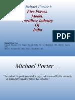 Porter's Model on Fertilizers