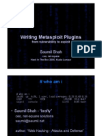 DAY 1 - Saumil Shah - Writing it Plugins