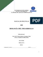 Manual de practicas Embriología humana